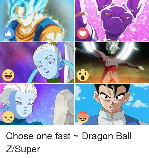 Dragon Ball Z Super: v<  自 Chose one fast ~ Dragon Ball Z/Super