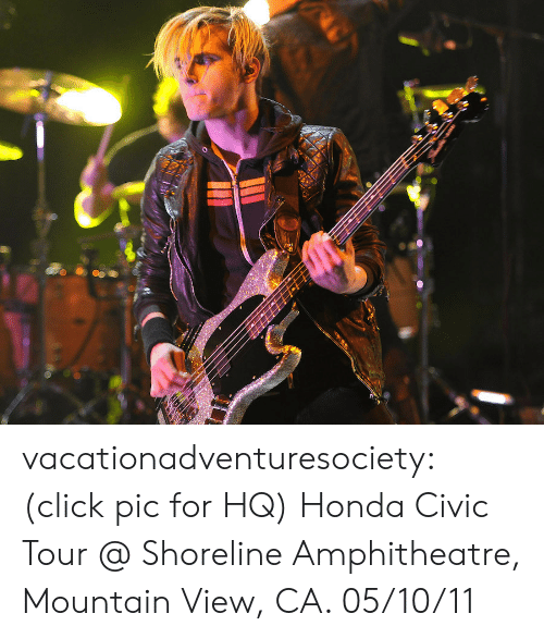 Honda: vacationadventuresociety:  (click pic for HQ) Honda Civic Tour @ Shoreline Amphitheatre, Mountain View, CA. 05/10/11
