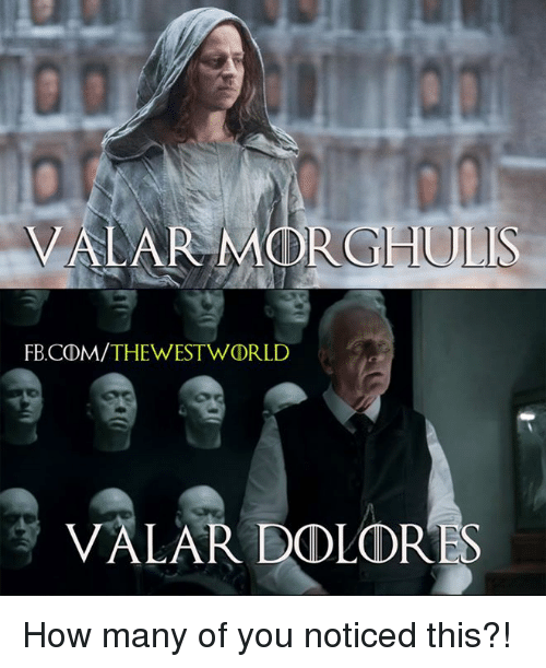 west world: VALA MODROHULIS  FB CDM/THE WEST WORLD  LAR DOLORES How many of you noticed this?!