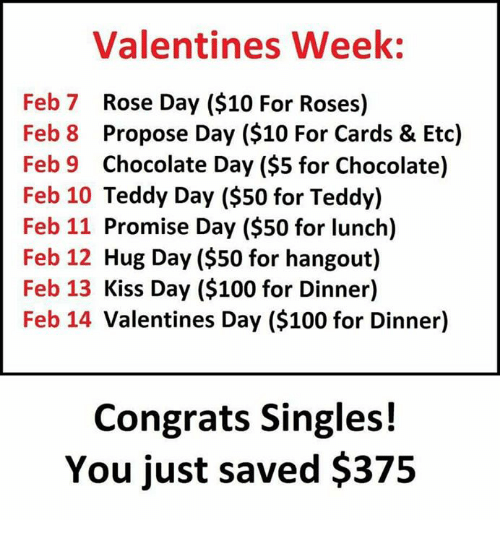 Valentines Week Feb 7 Rose Day 10 For Roses Feb 8 Propose Day 10