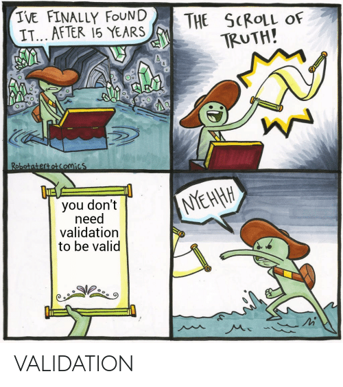 Validation: VALIDATION