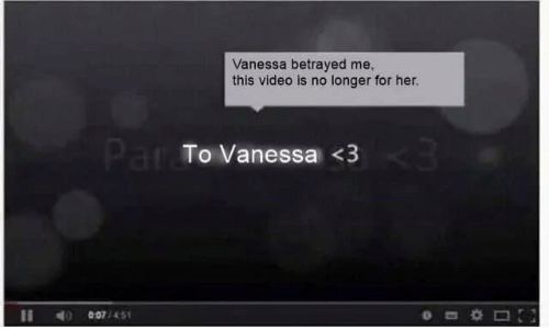 betrayed: Vanessa betrayed me  this video is no longer for her.  Par To Vanessa <3  007/451