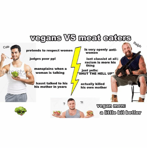 vegeterain vs meat eaters Eating lettuce is over three times worse in greenhouse gas  and when you  contrast meat and vegetables on their impact per calorie as.