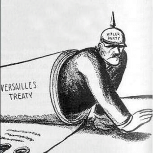 hitler and the treaty of versailles Hitler's regime blatantly and overtly violated these terms in march 1935, mandatory conscription was introduced and the german army began the rebuilding process it cannot be denied however, that because of the terms enacted under the treaty of versailles, ironically a document composed to end.