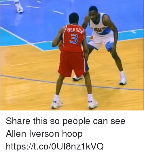 Allen Iverson, Funny, and Iverson: (VERSQ Share this so people can see Allen Iverson hoop https://t.co/0UI8nz1kVQ