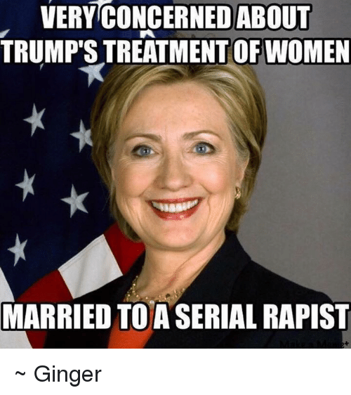 memes: VERY CONCERNED ABOUT  OF WOMEN  MARRIED TO A SERIAL RAPIST ~ Ginger