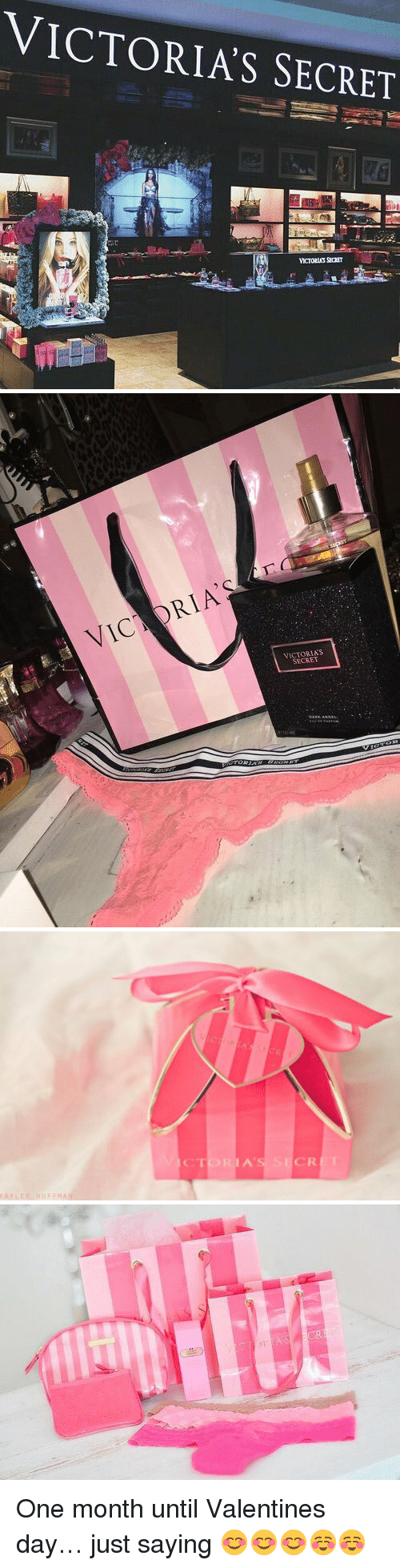 Victoria Secret: VICTORIAS SECRET   VIC  S  SECRET   KAY LEE MA  CTORIA's SECRET   71:  IVEill One month until Valentines day… just saying 😊😊😊☺️☺️