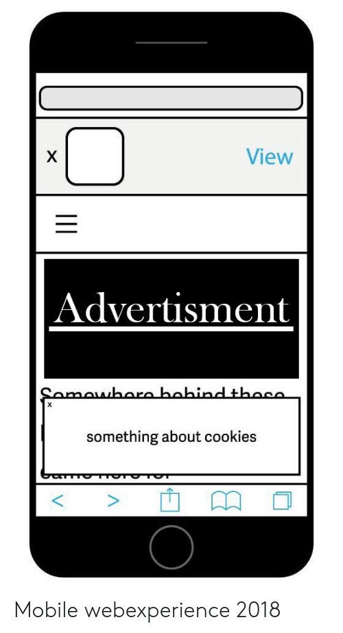Advertisment: View  Advertisment  something about cookies Mobile webexperience 2018
