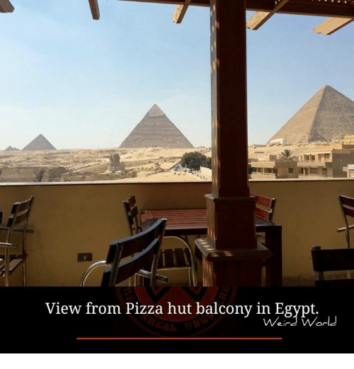 Egyption: View from Pizza hut balcony in Egypt.  .u