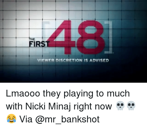 Funny: VIEWER DISCRETION IS ADVISED Lmaooo they playing to much with Nicki Minaj right now 💀💀😂 Via @mr_bankshot