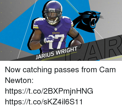Cam Newton: ViKuDgS  JARIUS WRIGHT Now catching passes from Cam Newton: https://t.co/2BXPmjnHNG https://t.co/sKZ4il6S11