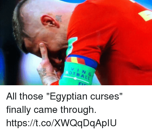"Soccer, Egyptian, and Vin: VIN  OTBALL All those ""Egyptian curses"" finally came through. https://t.co/XWQqDqApIU"