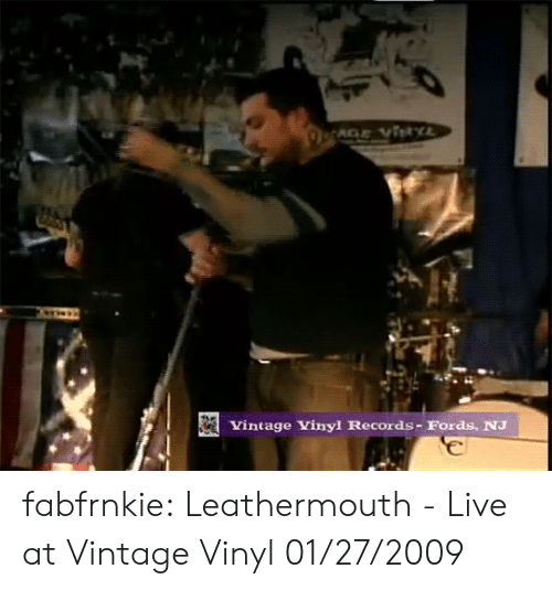 Fords: Vintage Vinyl Records- Fords, NJ fabfrnkie:  Leathermouth - Live at Vintage Vinyl 01/27/2009