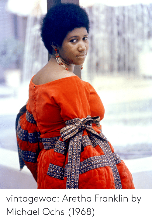 Aretha Franklin: vintagewoc:  Aretha Franklin by Michael Ochs (1968)