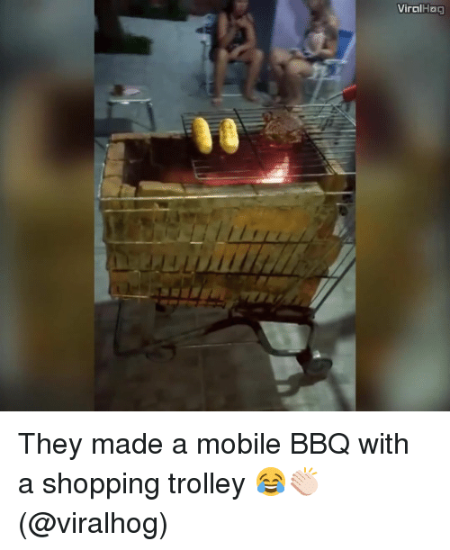 trolleys: Viral  Hoa They made a mobile BBQ with a shopping trolley 😂👏🏻 (@viralhog)