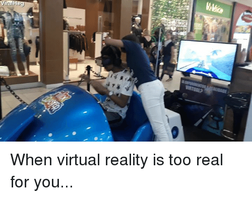 Virtual Reality, Reality, and You: ViralH When virtual reality is too real for you...