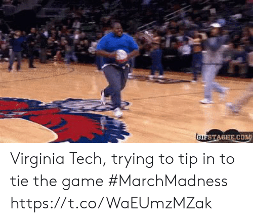 marchmadness: Virginia Tech, trying to tip in to tie the game #MarchMadness https://t.co/WaEUmzMZak
