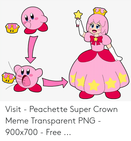 Peachette: Visit - Peachette Super Crown Meme Transparent PNG - 900x700 - Free ...