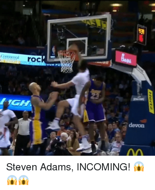 Sports, Steven Adams, and Roc: VM  Cont tiental  roc  eGlIll  乞.  [1GH  devon Steven Adams, INCOMING! 😱😱😱