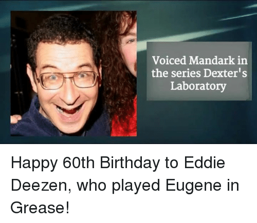 Voiced Mandark In The Series Dexters Laboratory Happy 60th Birthday