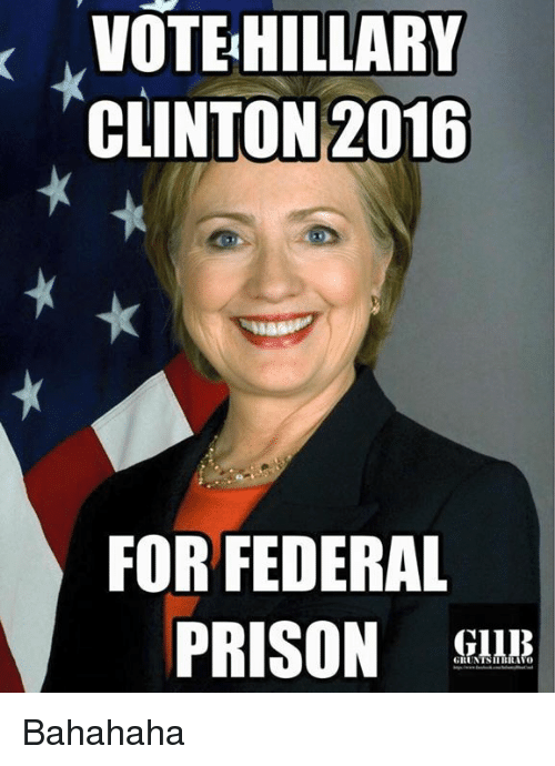Image result for Hillary and federal prison