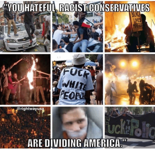 "Whitnesses: ""VOUHATEFUL RAPIST CONSERVATIVES  WHIT  @rightwayus  ARE DIVIDING AMERICA"