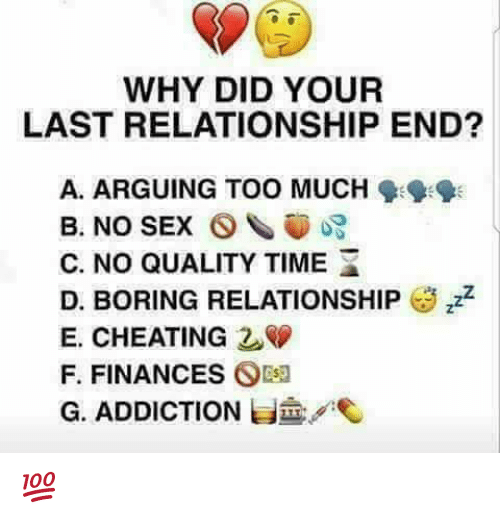 why did your relationship end