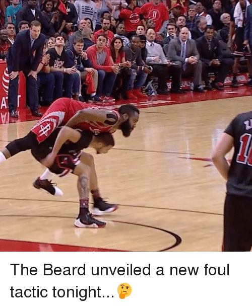 unveiling: w,  ill  >.co The Beard unveiled a new foul tactic tonight...🤔