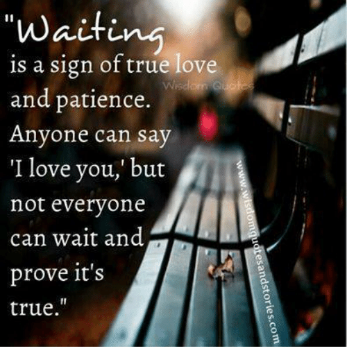 Love, Relationships, and True: waiting  is a sign of true love  and patience  Anyone can say  'I love you,' but  not everyone  can wait and  prove it's  true.