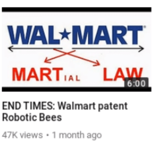 patent: WAL MART  MARTIAL LAWN  6:00  END TIMES: Walmart patent  Robotic Bees  47K views 1 month ago