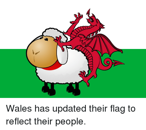wales has updated their flag to reflect their people wale meme on sizzle