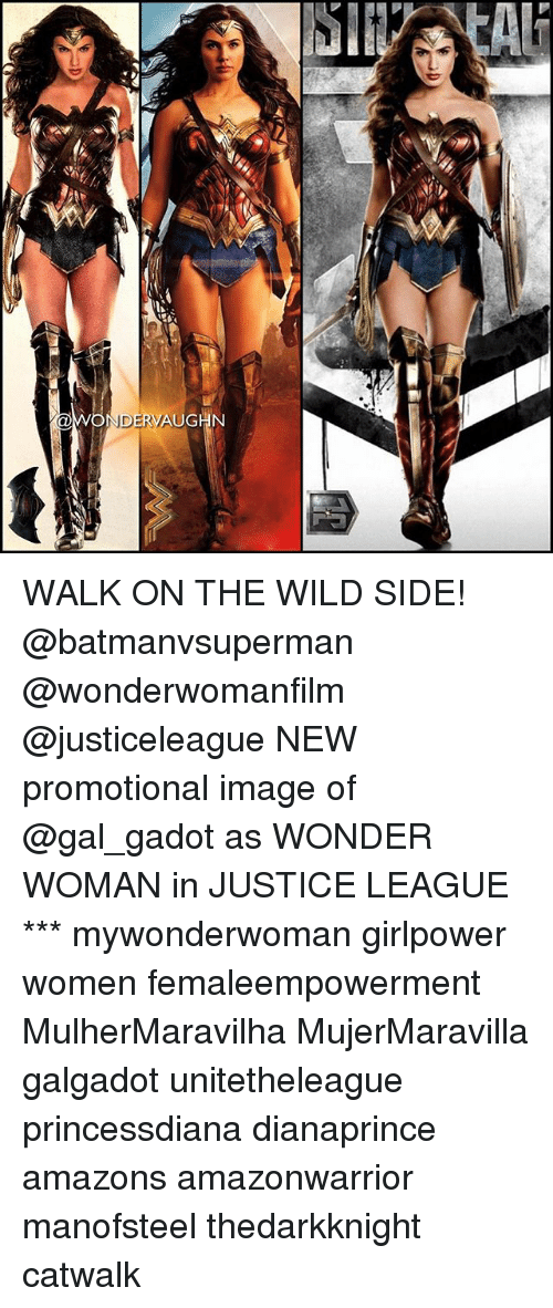 Memes, Image, and Justice: WALK ON THE WILD SIDE! @batmanvsuperman @wonderwomanfilm @justiceleague NEW promotional image of @gal_gadot as WONDER WOMAN in JUSTICE LEAGUE *** mywonderwoman girlpower women femaleempowerment MulherMaravilha MujerMaravilla galgadot unitetheleague princessdiana dianaprince amazons amazonwarrior manofsteel thedarkknight catwalk