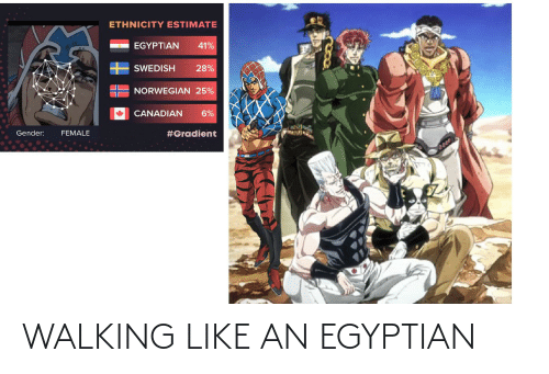 Egyptian: WALKING LIKE AN EGYPTIAN