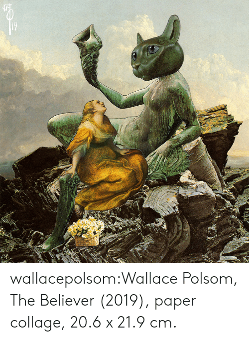 Believer: wallacepolsom:Wallace Polsom, The Believer (2019), paper collage, 20.6 x 21.9 cm.