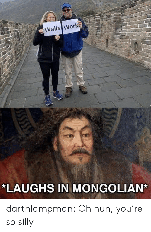 walls: Walls Work  *LAUGHS IN MONGOLIAN darthlampman:  Oh hun, you're so silly