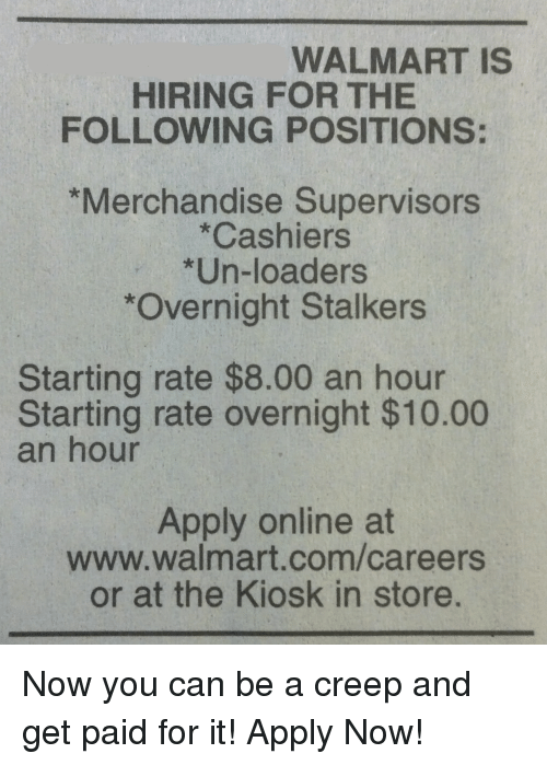 overnight stalkers starting rate 800 an hour starting rate overnight