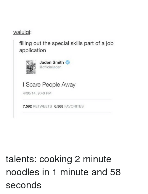 job application special skills