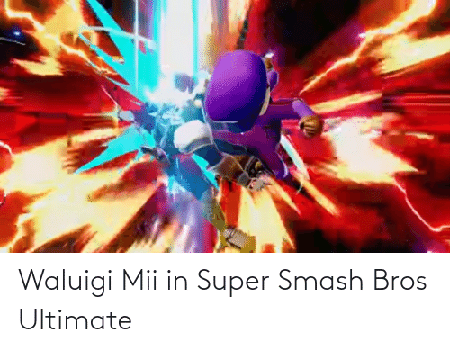 super smash: Waluigi Mii in Super Smash Bros Ultimate