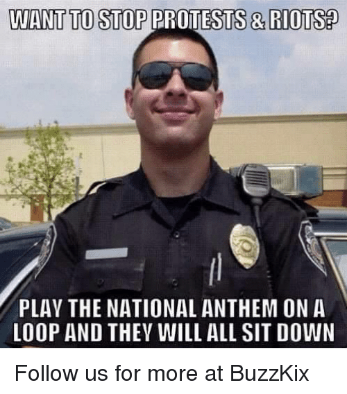 25  best memes about national anthem  riot  and protest