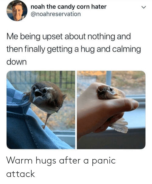 attack: Warm hugs after a panic attack