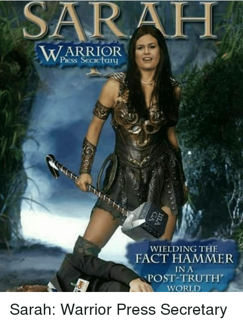 WARRIOR WIELDING THE FACT HAMMER IN A POST-TRUTH WORLD