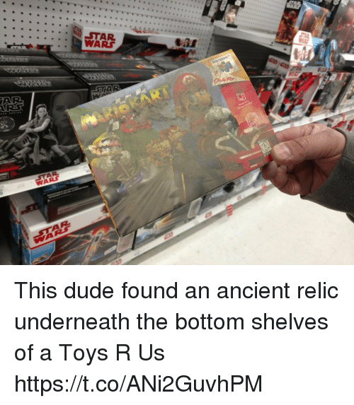 Toys R Us: WARS This dude found an ancient relic underneath the bottom shelves of a Toys R Us https://t.co/ANi2GuvhPM