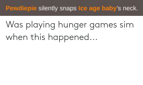 The Hunger Games: Was playing hunger games sim when this happened...