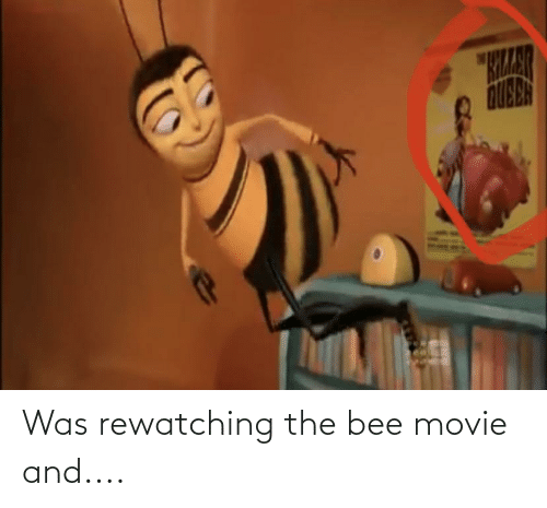 the bee movie: Was rewatching the bee movie and....