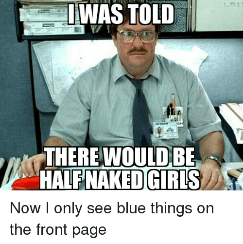 Naked girls in blue things apologise