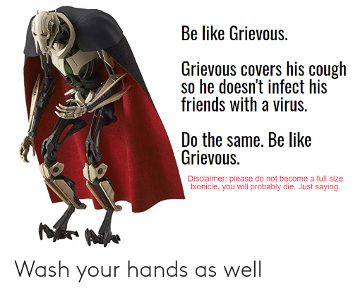 Your Hands: Wash your hands as well