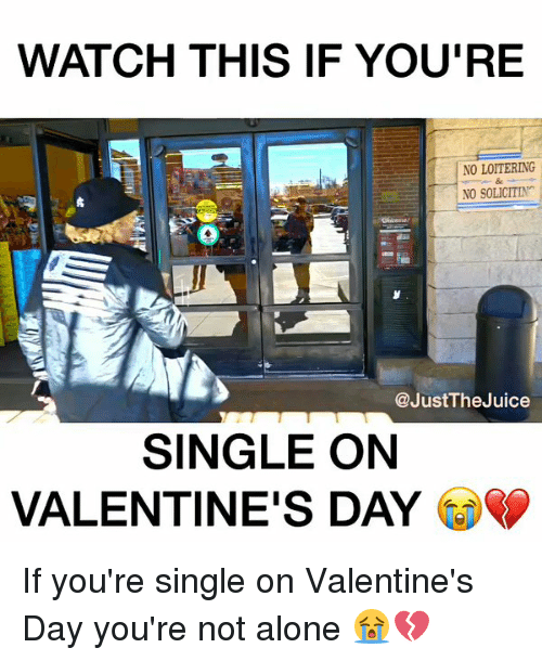 if you're spending valentine day alone meme - Funny Single on Valentines Day Memes of 2017 on SIZZLE