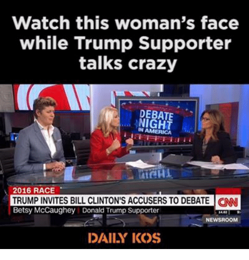 Watch This Woman's Face While Trump Supporter Talks Crazy ... Daily Kos