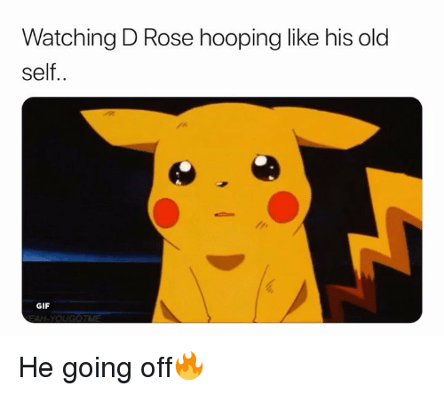 hooping: Watching D Rose hooping like his old  self..  GIF He going off🔥