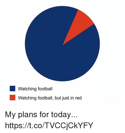 Football, Nfl, and Sports: Watching football  Watching football, but just in red My plans for today... https://t.co/TVCCjCkYFY